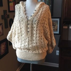 Free People loose knit sweater cream size M